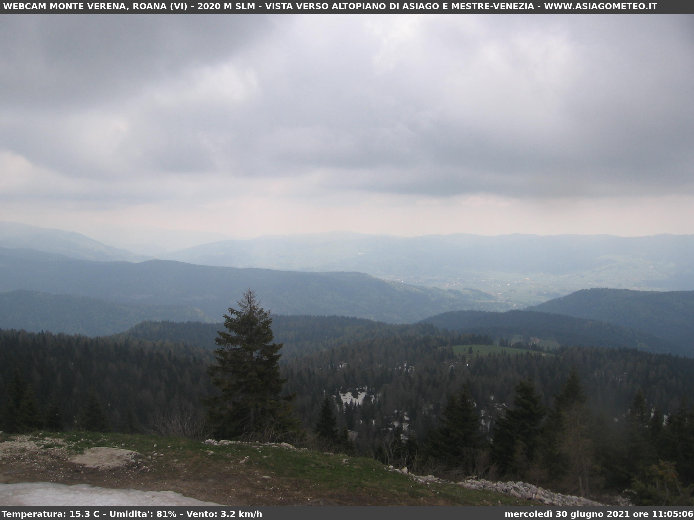 Monte Verena webcam 2