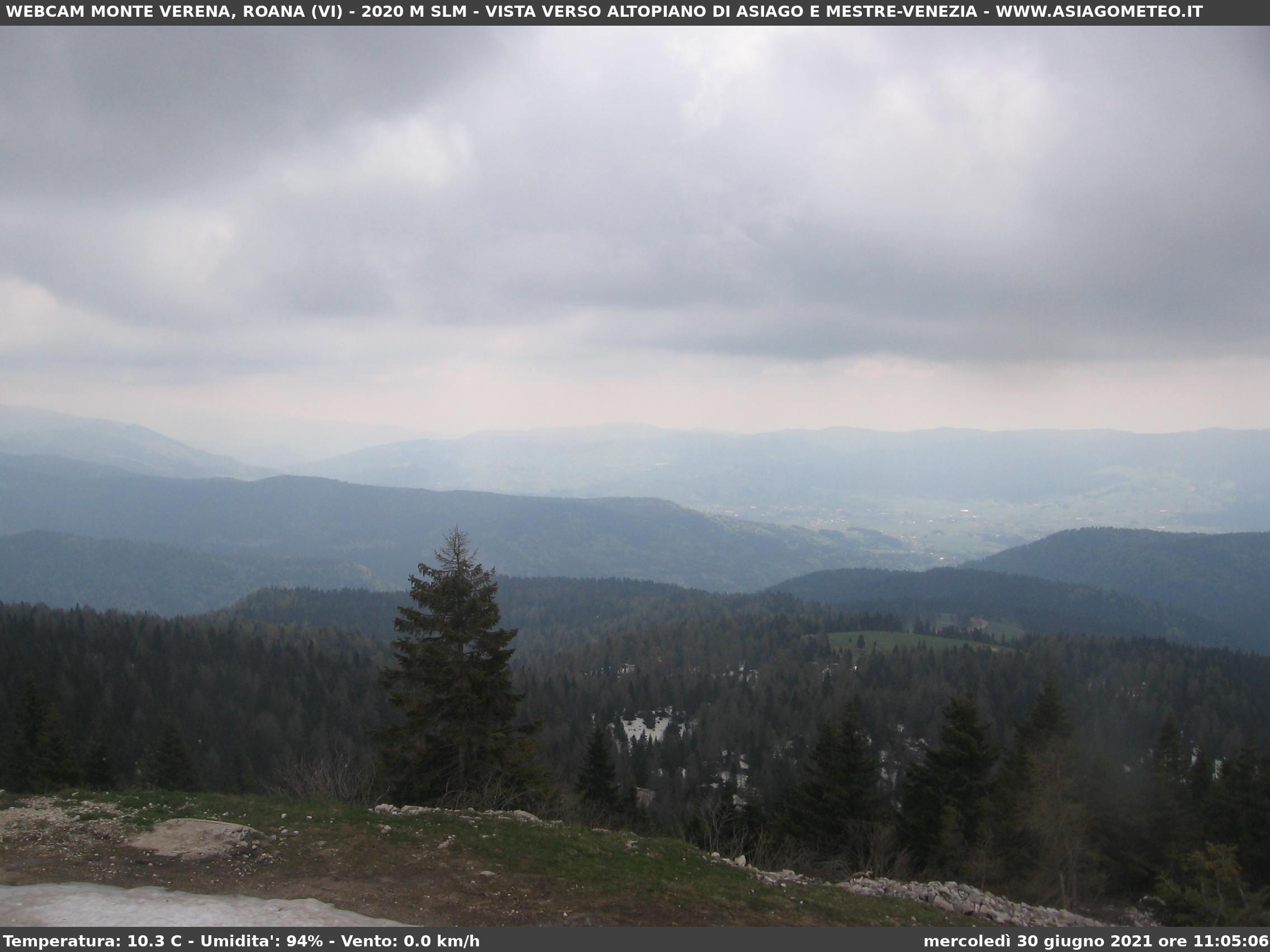 Webcam Monte Verena 2.020 m. (VI)